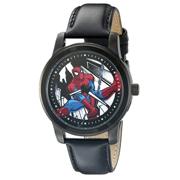 Marvel Spider-Man Men's Analog Display Analog Quartz Black  W002553