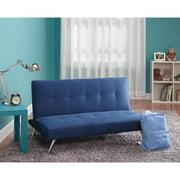 Pemberly Row Microfiber Junior Convertible Sofa In Teal