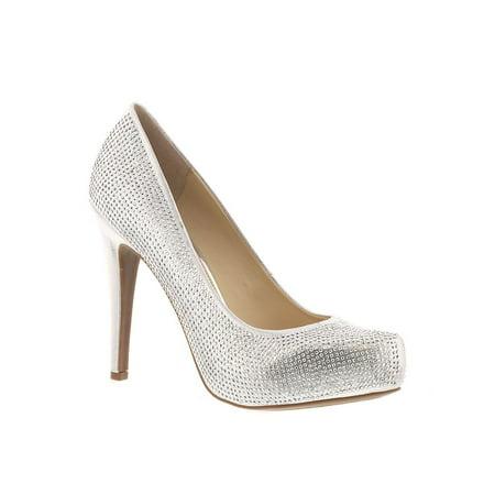 Jessica Simpson Womens JS-PARISAH2 Suede Pointed Toe Platform Pumps Brown Peep Toe Pump