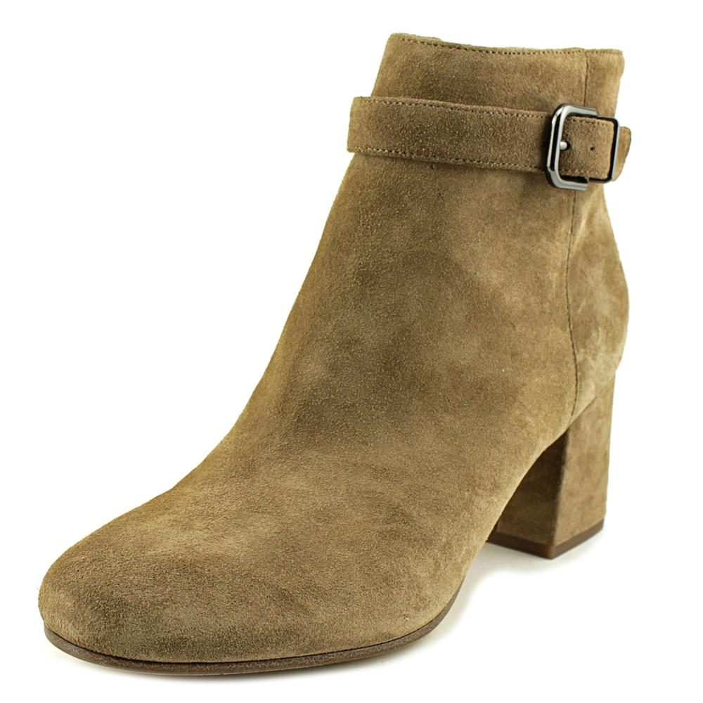 Via Spiga Suede Round-Toe Ankle Boots