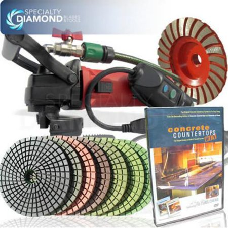 Electric Concrete Cement Diamond Wet Polishing Grinding Kit Polisher