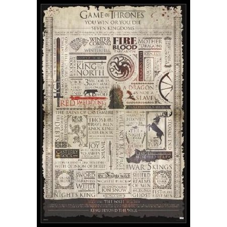 Game Of Thrones Infographic Poster Poster Print