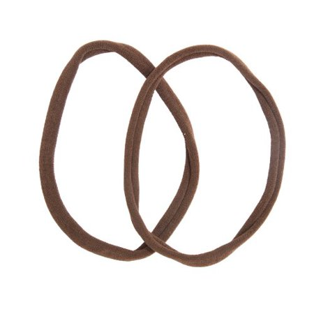 Caravan Non Metal Fine European Stretch Tennis Band Pair, Brown, .65 Ounce
