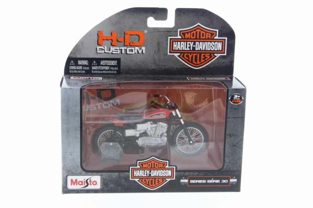 1972 Harley Davidson XR750 Racing Bike, Red w  Black Maisto 31360-30 1 18 Scale Diecast... by ModelToyCars