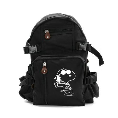 Snoopy Joe Cool Heavyweight Canvas Travel Backpack