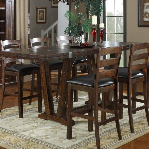 Emerald Home Castlegate 42 in. Bar Height Trestle Table