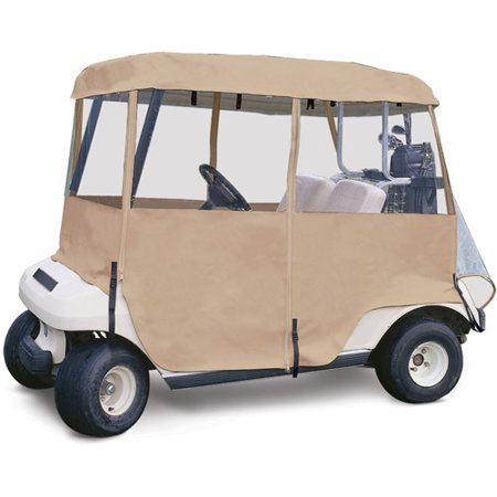 Classic Accessories Deluxe 4-Sided Golf Cart Enclosure, 2-Person