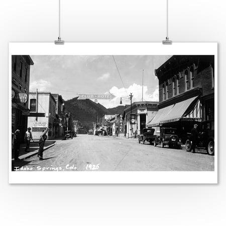 Idaho Springs, Colorado - Street Scene Photograph (9x12 Art Print, Wall Decor Travel Poster)