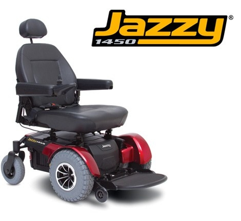 Pride Mobility JAZZY1450 Jazzy 1450 Electric Wheelchair - Viper Blue