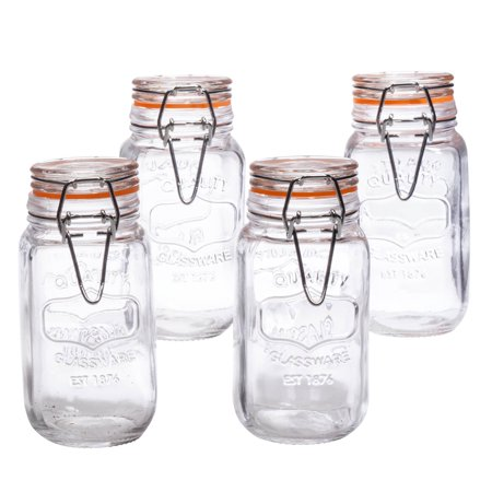 Set of 4 Bail & Trigger 5oz Spice Jars (Antique Spice Jars)