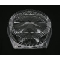 "10"" Clamshell High Dome Plastic Pie Container - #CPC120"
