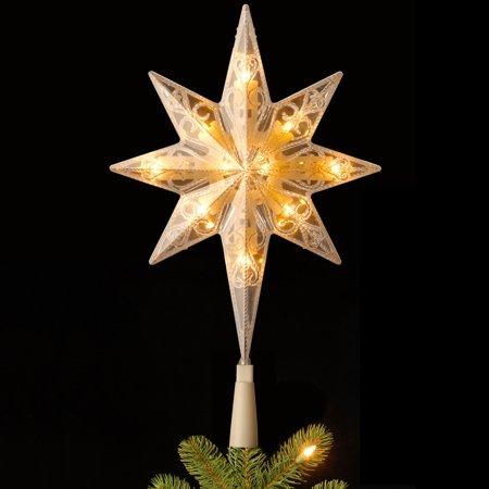 11 in. Bethlehem Star Pre-Lit LED Christmas Tree Topper
