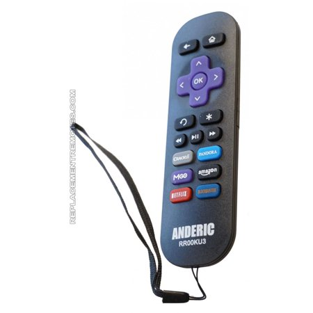 Anderic Rr00ku3 For Roku Ir  P N  Rr00ku3  Streaming Media Player Remote Control  New
