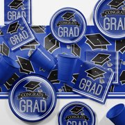 Blue Graduation School Spirit Party Tableware Kit for 18 Guests (Click to Select Color)