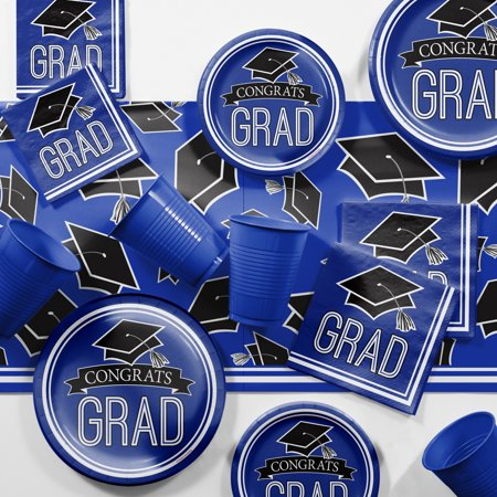 Graduation School Spirit Blue Party Supplies Kit
