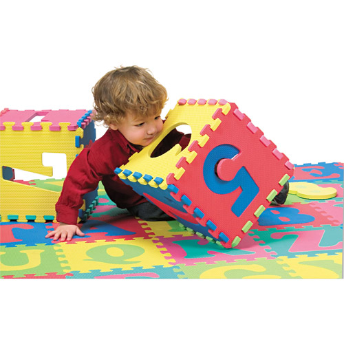 Chenille Kraft Wonderfoam Letters and Number Puzzle Mat, 72 Pieces