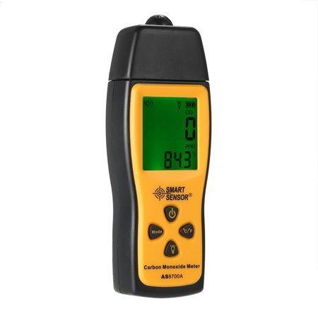 Handheld Gas Detector (SMART SENSOR Handheld Carbon Monoxide Meter with High Precision CO Gas Tester Monitor Detector Gauge LCD Display Sound and Light Alarm 0-1000ppm)