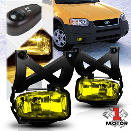 Golden Yellow Lens Fog Light Bumper Lamps w/Switch+Harness for 01-04 Ford Escape 02 03