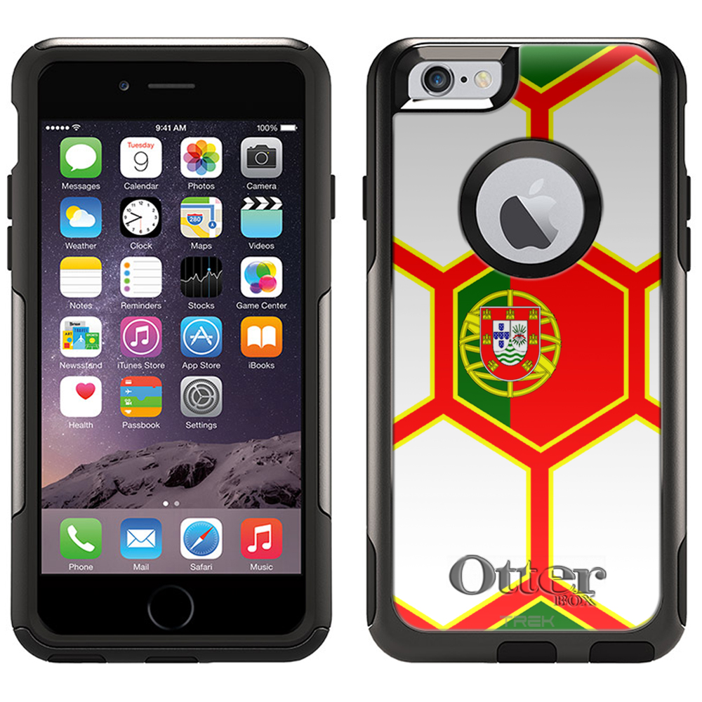 Otterbox Commuter Case for iPhone 6 Soccer Ball Portugal Flag by Trek Media Group