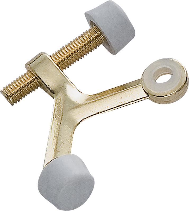 ProSource 4071478 Hinge Pin Door Stop, Zinc Die-Cast, Polished Brass