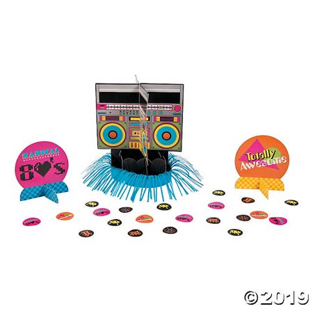 80s Party Table Decorating Kit (80s Party Themes)