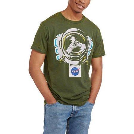 7901d0069 Pop Culture - Nasa Men's Space Selfie Burnout Graphic Tee - Walmart.com