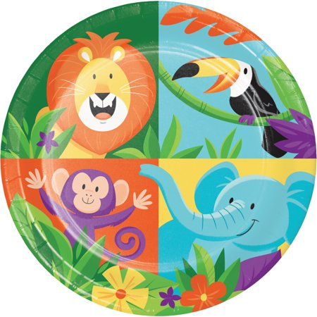 Safari Paper Plates (Jungle Safari Dessert Plates, 24)