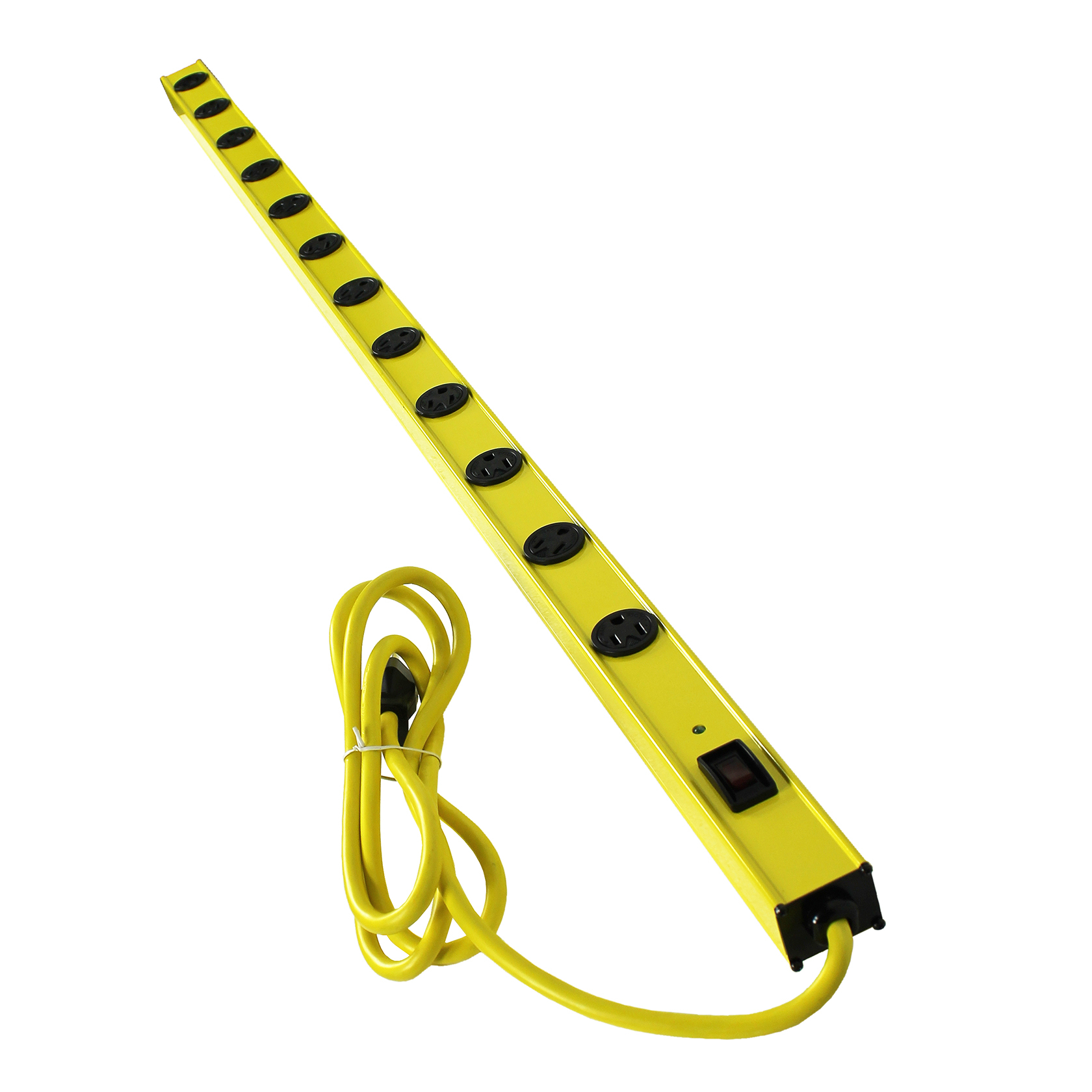 Yellow Jacket 5154 450 Joules 12-Outlet Yellow Metal Surge Protector Strip