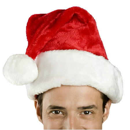 Santa Hats In Bulk (Santa Hat-Christmas Costume Classic Hat for Adult,)