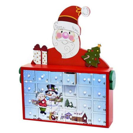 Kurt Adler 12-Inch Santa Advent Calendar](Advent Colors)