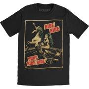 Lady Gaga Men's Pony Ride 2013 Tour Slim Fit T-shirt Medium Black