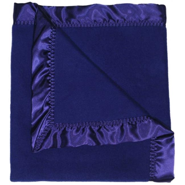 Dee Givens & Co-Raindrops 1806 Boy Dark Royal Fleece Receiving Blanket - Dark Royal - 28 in. x 36 in.
