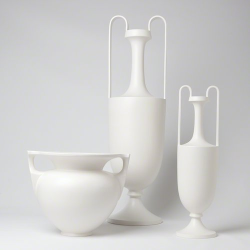 Darby Home Co Matte White Grecian Amphora Decorative Bottle by