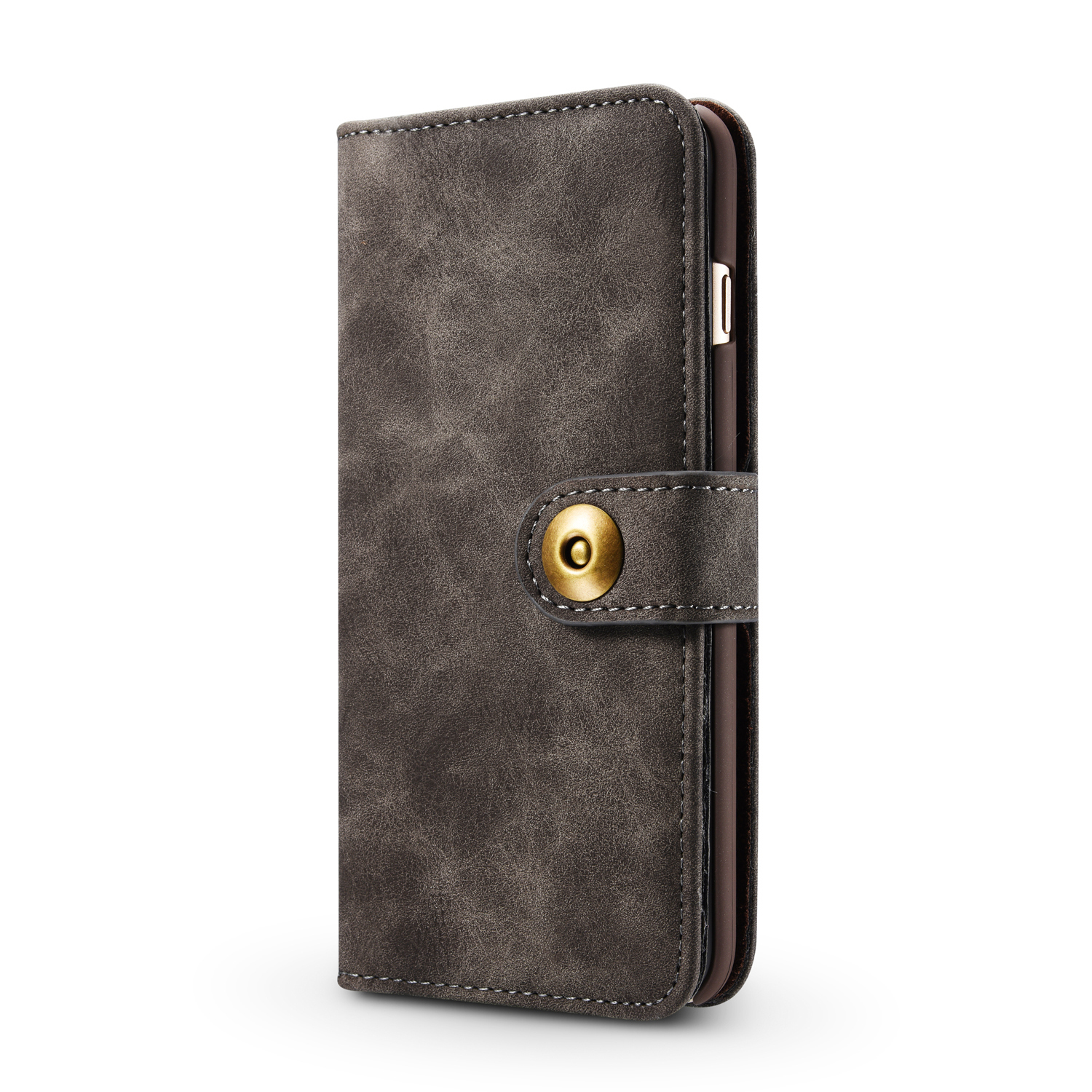 Jaorty PU Leather Wallet Case for iPhone 6//6S Necklace Lanyard Case Cover with Card Holder Adjustable Detachable Anti-Lost Neck Strap for 4.7 inch Apple iPhone 6 iPhone 6S,Gold