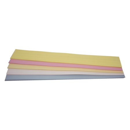 School Smart Ruled Sentence Strips, 3 x 24 Inches, Kaleidoscope Colors, 90 lb, Pack of 100 90 Lb Cold Press