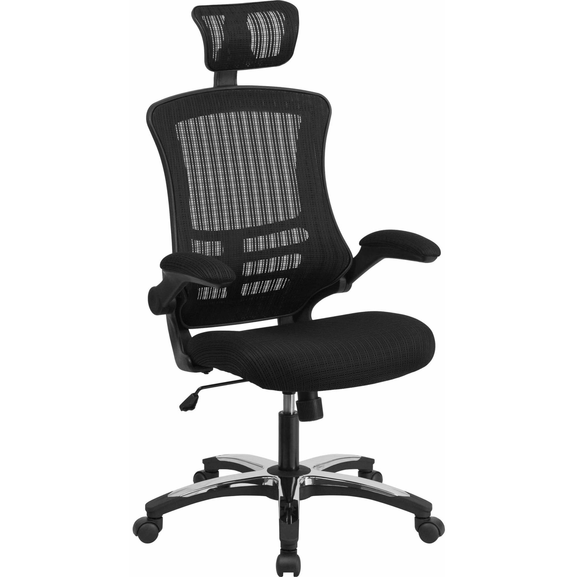 flash furniture high-back black mesh executive swivel office chair