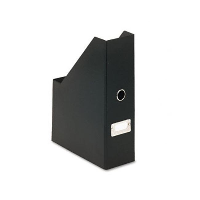 Ideastream SNS01565 Snap-N-Store Fiberboard Magazine File with PVC Laminate  3-1/2 x 9-1/4 x 14  Black