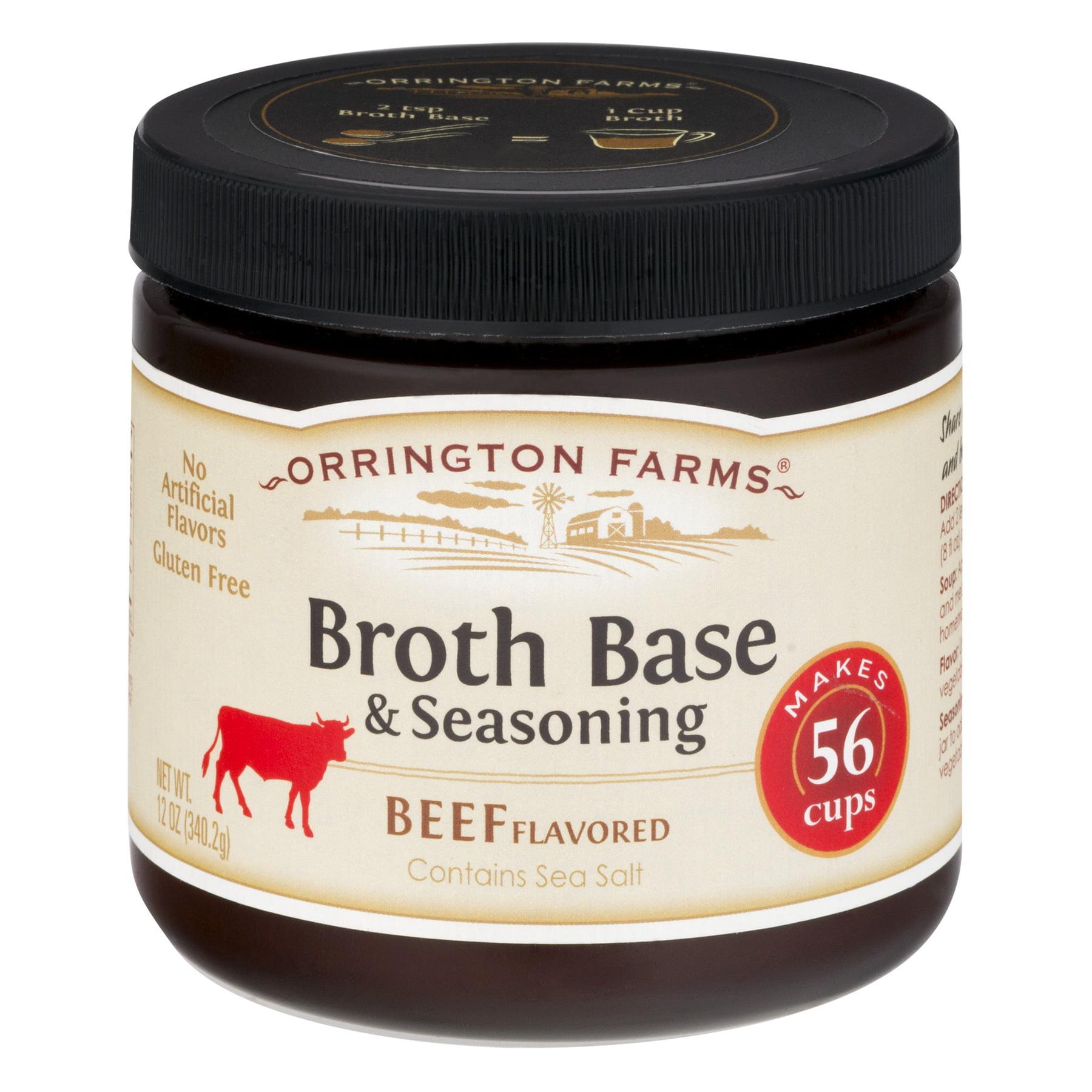 (3 Pack) Orrington Farms® Beef Flavored Broth Base & Seasoning 12 oz. Jar