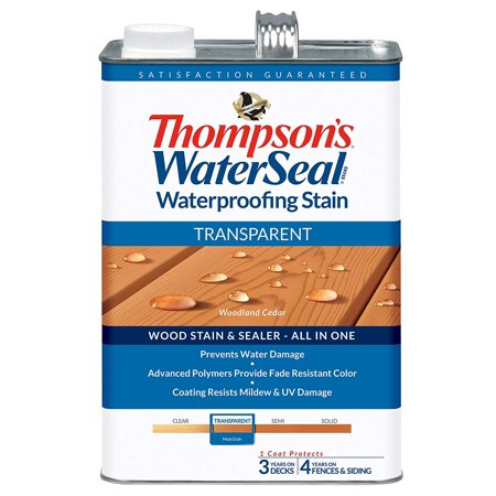 - THOMPSONS WATERSEAL 041851-16 Transparent Stain, Cedar, Prevents water damage By Thompsons Water Seal