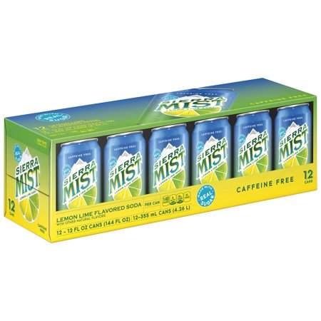 (3 Pack) Sierra Mist Lemon Lime Soda, 12 Count, 12 fl oz Cans