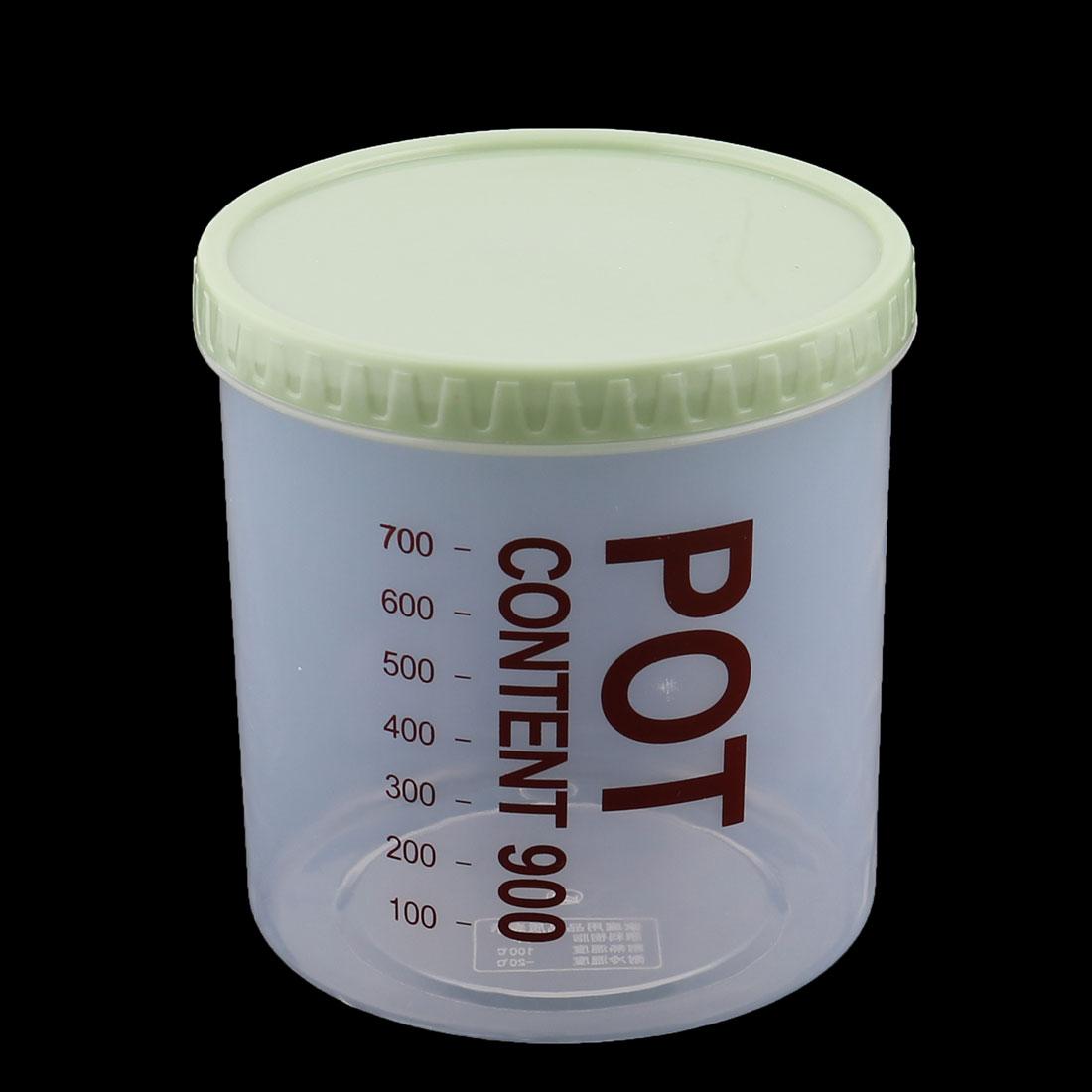 Maison Bo te alimentaire scellée en Plastique rond Bonbons alimentaire Bo te Rangement Cas 900ml vert - image 3 de 4