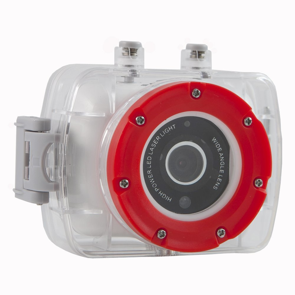 Polaroid XS9 HD 720p 5MP Waterproof Sports Action Camera with LCD Touch Screen, Laser & LED Light - Mounting Kit is Included