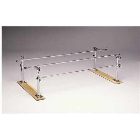 10 ft. x 16-24 x 22-36 in. Height & Width Adjustable Wood Base Folding Parallel -