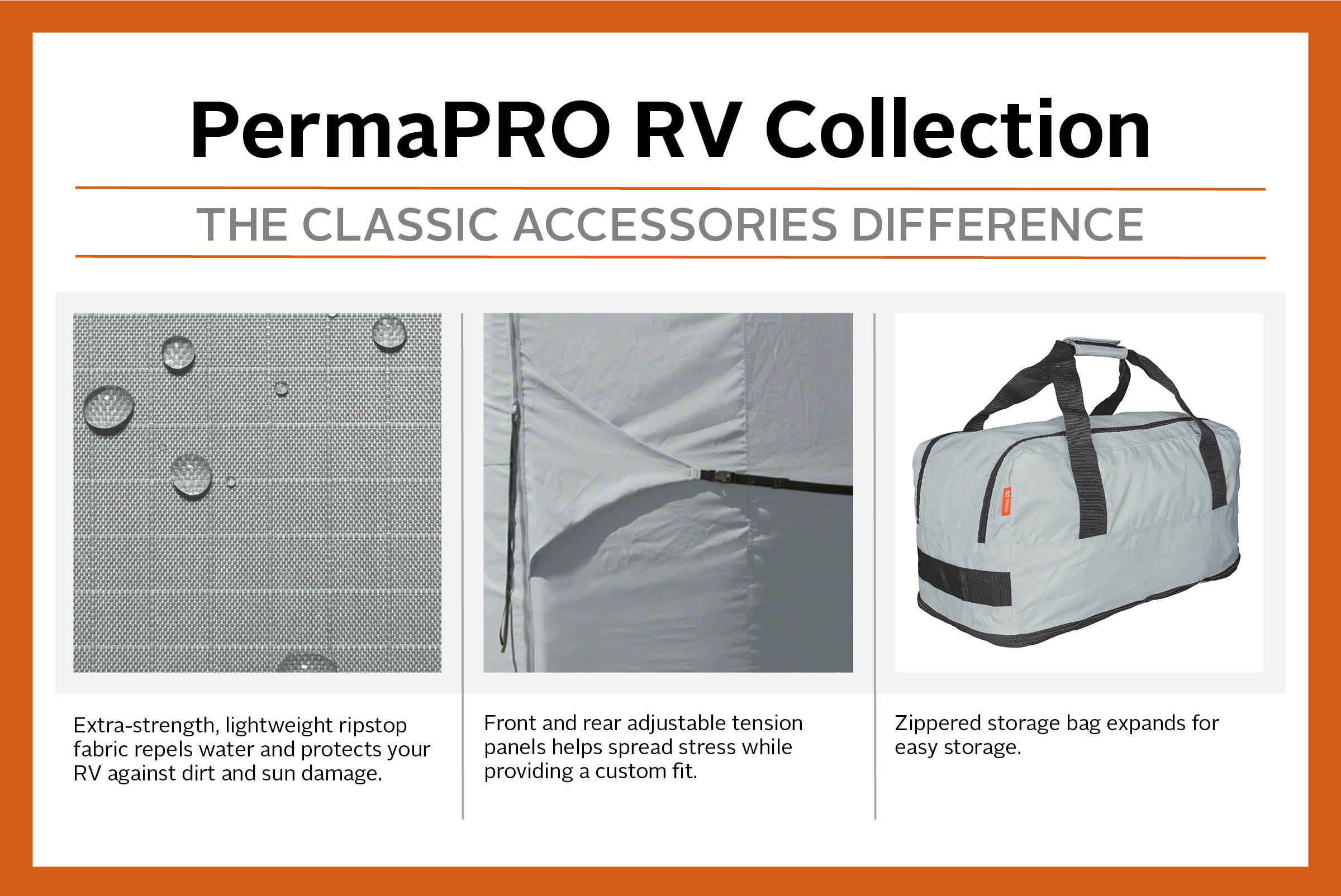 Classic Accessories OverDrive PermaPRO Deluxe 5th Wheel Cover, Fits 20' -  44' RVs