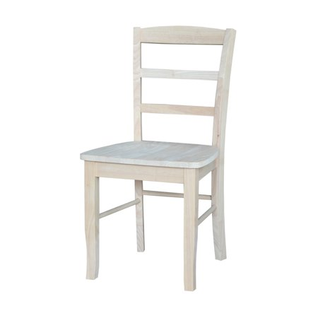 International Concepts Madrid Chair, Set of 2, Unfinished