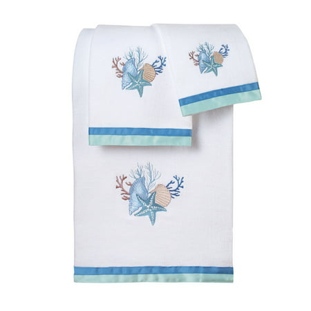 Seashell Bath Towel Set, Beach Theme - Beach Themed Accessories