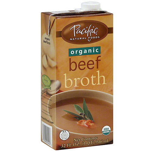 Pacific Natural Foods Organic Beef Broth, 32 oz (Pack of 12)