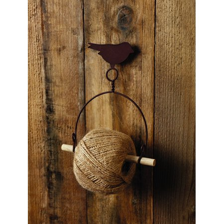 Primitive Bird String & Yarn Holder Country Farmhouse Home Decor Accent for Wall ()