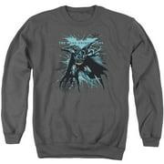 Dark Knight Rises Blue Crackle Mens Crewneck Sweatshirt