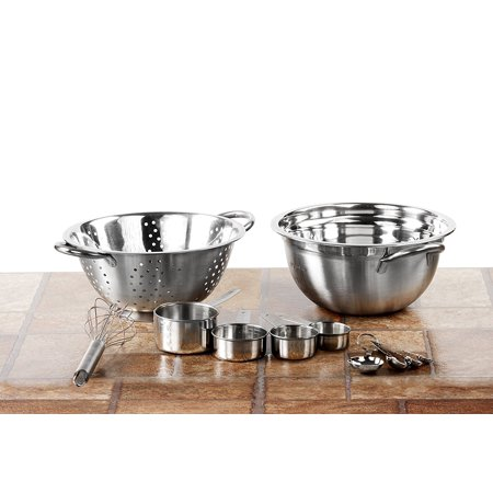 11 Pc Stainless Steel Mixing Bowl Set & Kitchen Colander w/ Measuring Cups & Whisk – Prep Bowls Baking BowlMATERIAL – Durable, high-quality.., By Imperial